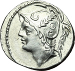obverse:  Q. Thermus M.f. Denario, 103 a.C.