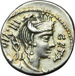 obverse:  C. Hosidius C.f. Geta. Denario, 68 a.C.