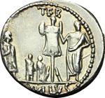 reverse:  L. Aemilius Lepidus Paullus. Denario, 62 a.C.
