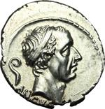 obverse:  L. Marcius Philippus. Denario, 56 a.C.