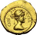obverse:  Giulio Cesare. Aureo, 44 a.C.