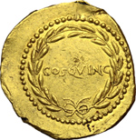 reverse:  Giulio Cesare. Aureo, 44 a.C.