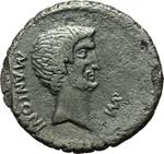 obverse:  Marco Antonio. Denario, 42 a.C.
