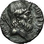 obverse:  Sesto Pompeo. Denario, 42-40 a.C.