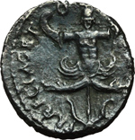 reverse:  Sesto Pompeo. Denario, 42-40 a.C.