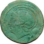 obverse:  Serie semilibrale. Oncia, 217-215 a.C.