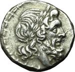 obverse:  Serie L. Vittoriato, 211-208 a.C. Luceria.