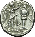 reverse:  Serie L. Vittoriato, 211-208 a.C. Luceria.