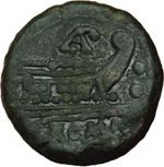 reverse:  L. Aemilius Paetus. Sestante, 169-158 a.C.