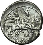 reverse:  L. Iteius. Denario, 149 a.C.