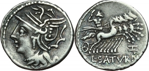 L. Appuleius Saturninus Denario, ca. 104 a.C.