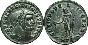 Massimiano (286-310) Follis, Heraclea.