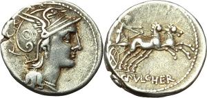 C. Claudius Pulcher  Denario, ca. 110-109 a.C.