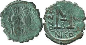 Giustino II (565-578) Follis, Nicomedia.