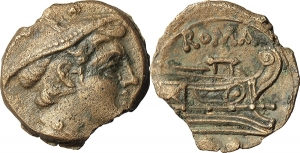 Sextantal series. AE Sextans, after 211 BC.