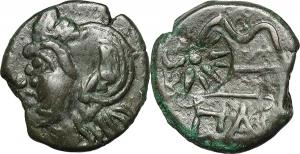 Cimmerian Bosporos, Pantikapaion   AE Tetrachalkon, 265-245 BC.