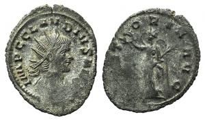 Claudius II Gothicus. AD 268-270. Antoninianus. Rome, AD 268-269. R/ VICTORY