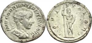 Gordian III (238-244).  AR Antoninianus, 241-243 AD. Obv. IMP GORDIANVS PIVS FEL AVG. Radiate, drape