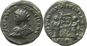 Constantine II as Caesar (317-337).  AE Follis, 320 AD. Londinium mint. Obv. CONSTANT INVS IVN N C.