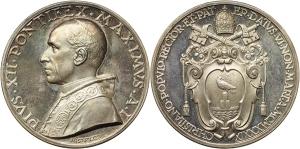 Pio XII (1939-1958), Eugenio Pacelli. Medaglia annuale, A. I. Elezione al Pontificato.