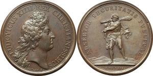 Francia  Luigi XIV (1643-1715). Medaglia 1669.