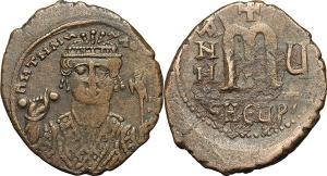 Tiberius II Constantine (578-582). AE Follis, Theupolis (Antioch) mint.
