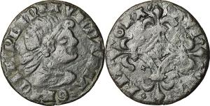 Francia. Ludovico il Pio (814-840). Gettone con ritratto di Ludovico il Pio (XV secolo).