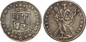 Germania-Brunswick-Luneburg  Giorgio III d Inghilterra (1760-1820) 1/6 di tallero 1764.