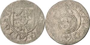 Polonia-Elbing  Occupazione Svedese (1626-1636) 1/24 di tallero 1635 a nome di Cristina di Svezia.
