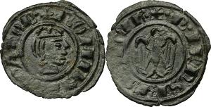 Messina. Federico II di Svevia (1218-1250). Mezzo denaro 1243.