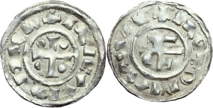 Francia. Riccardo I (943-996). Denaro, Rouen.