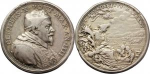 Clemente X (1670-1676), Emilio Bonaventura Altieri. Medaglia A. IV, per l approvvigionamento del gr