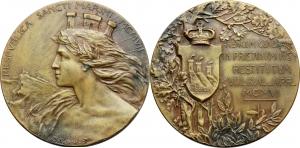 San Marino   Medaglia 1907 per il primo anniversario dell Arengo.