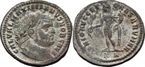 Galerio Cesare (293-305) Follis, Cyzico.