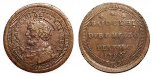 Pio VI (1775-1799). PERUGIA. Sampietrino 1796