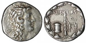 Macedon As Roman Province. Aesillas (Quaestor, circa 93-87 BC). Tetradrachm. Thessalonika. 16.44 gr.