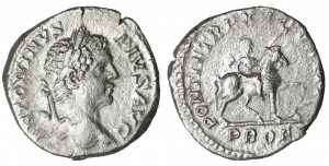 Caracalla. Denarius. 208 AD. 3.85 gr. - 17.7 mm. O:\ ANTONINVS PIVS AVG, laureate head right. R:\ PO