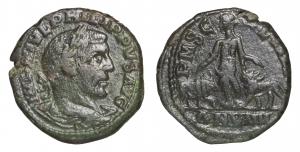 ROMAN EMPIRE. PHILIP I. 244-249 AD. PROVINCIAL BRONZE MOESIA. AE 17,60 gr. – 28,24 mm. O:\ IMP IVL P