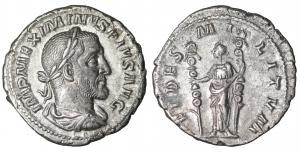 Maximinus I, Thrax. 235-238 AD. Denarius. 2.95 gr. - 20.0 mm. O:\ MAXIMINVS PIVS AVG GERM, laureate,