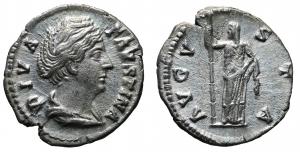 DIVA FAUSTINA I. (Augusta, 138-140). Denarius. Rome. 3,0 gr. – 18,3 mm. O:\ DIVA FAVSTINA; Draped bu