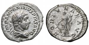 Elagabalus. AD 218-222. Denarius. 2,9 gr. – 20,1 mm. O:\ IMP ANTONINVS PIVS AVG, laureate and draped