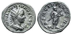 Philip II (Caesar, 244-247). AR Antoninianus. Rome, AD 245.