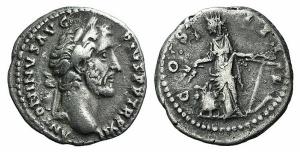 Antoninus Pius (138-161). AR Denarius. Rome, 147-8. R/ ANNONA