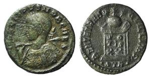 Crispus (Caesar, 323-324). Æ Follis. Treveri, 322-3.