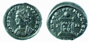 Costantino II Follis radiato
