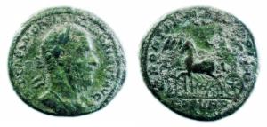 Impero Romano.Macrino 217-218. Ae Asse Dicembre 217 d.C R\ IMP CAES M OPEL SEV MACRINVS AVG. busto l