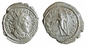 Impero Romano. Postumo. 259-268 d.C. Antoniniano. Mi. D/ IMP C POSTVMVS PF AVG Busto radiato a sinis